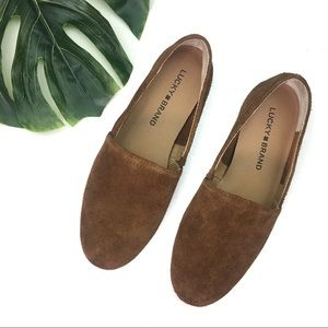 Lucky Brand Brettany Oiled Suede Slip On Flats 6